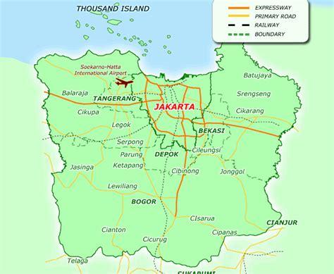 jakarta map travelsfinderscom