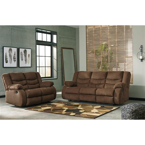 ashley signature design tulen reclining living room group