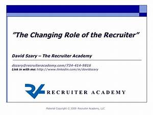 The Changing Role Of The Recruiter