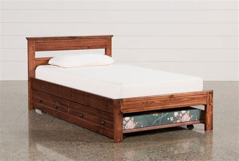 Sedona Twin Platform Bed With Trundle With Mattress