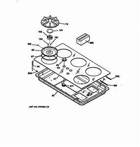Ge Model Jgp636wev7ww Counter Unit  Gas Genuine Parts