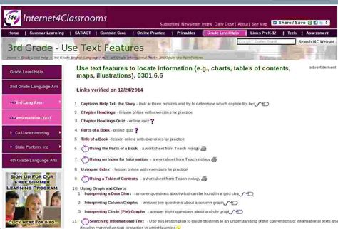 text features   grade english language arts