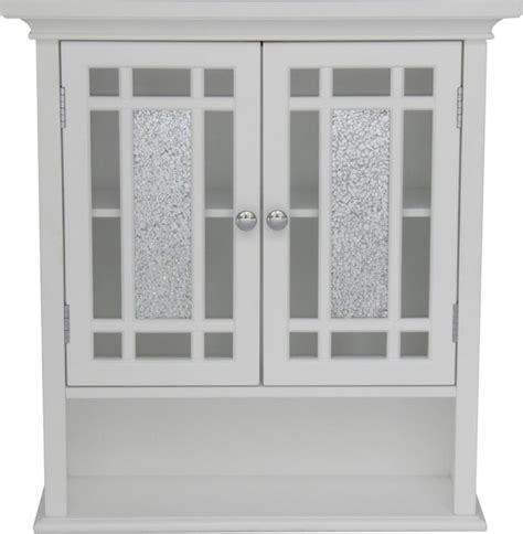 elegant home windsor white bathroom wall cabinet with 2
