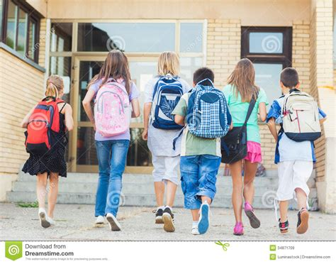 going to school stock of white 34871709