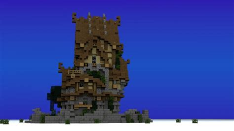 story medieval house minecraft house design