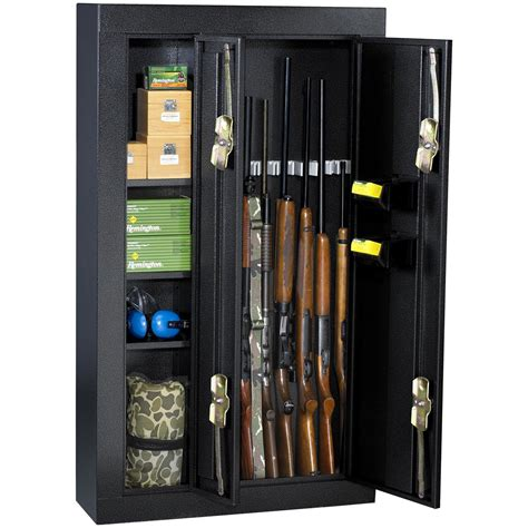 shelf gun safe homak 174 sided 8 gun security cabinet 163669