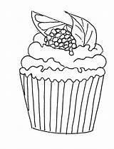 Cupcake Coloring Pages Ice Food Muffin Para Cupcakes Cakes Muffins Cream Adults Pattern Mis Hojas Doces Easy Adult Stamps Sheets sketch template