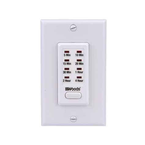 woods 4 hour in wall countdown digital timer switch
