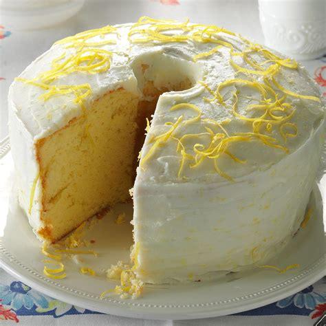 lemon food cake dessert lemon chiffon cake recipe taste of home