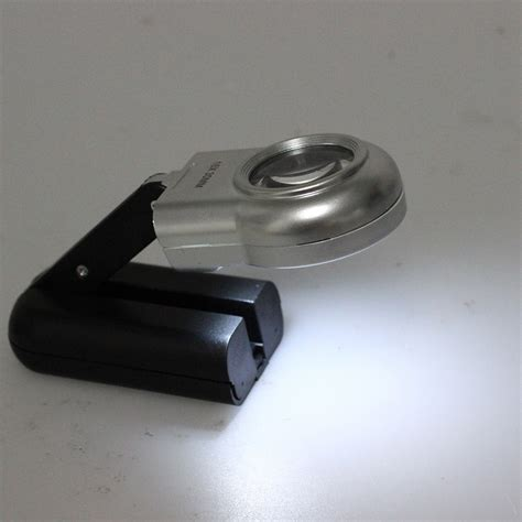 f8 16x 30mm led illuminated magnifier magnifying gla loupe