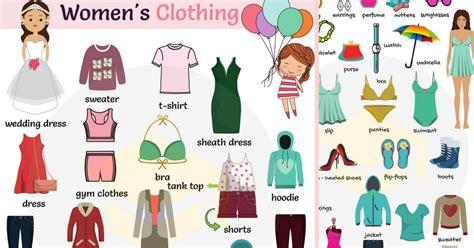 English Vocabulary Womenu2019s Clothing | Names of Clothes - 7 E S L