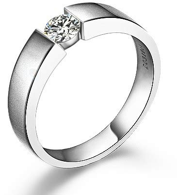 aliexpress com buy luxury classic design gvbori 18k natural white gold diamond ring men s