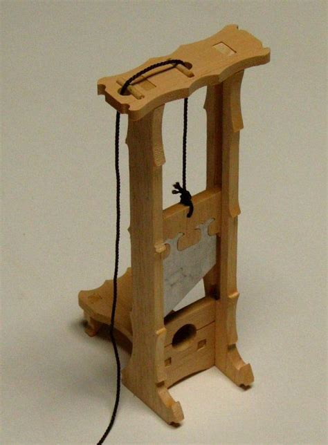 guillotine model kit wood toy model kits pinterest