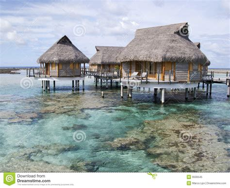 Overwater Bungalow In Polynesia Royalty Free Stock Photo