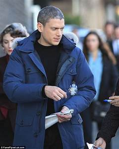 Wentworth Miller is a silver fox as he sports a new salt ...