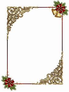 Christmas Gold PNG Photo Frame with Red Bow   Gallery ...