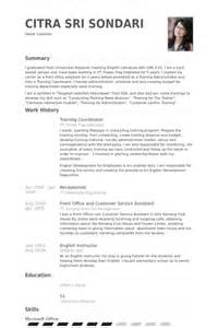 resume for coaching classes coordinator resume sles visualcv resume