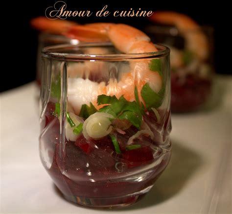 recette de cuisine avec aubergine verrines pour apéros betteraves et crevettes amour de
