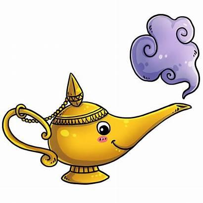 Genie Lamp Clipart Aladdin Bottle Magic Drawing