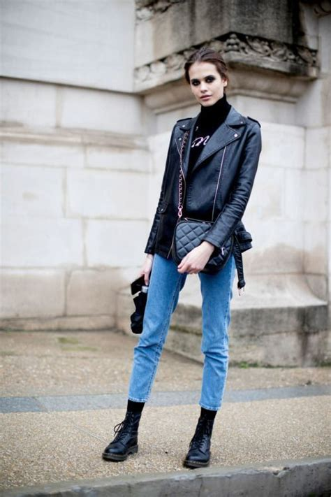 How Wear Combat Boots Look Chic Feminine The