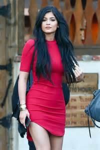 Kylie Jenner in Red Mini Dress -16 - GotCeleb