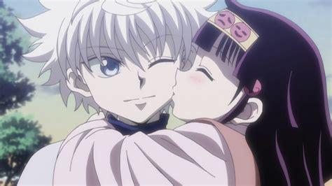 anime kiss hunter x hunter image alluka kissing killua on the cheek png