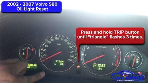 volvo  oil light reset service light reset