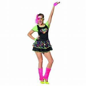 Robe Année 80 : d guisement femme robe ann es 80 fluo happy fiesta lyon ~ Dallasstarsshop.com Idées de Décoration