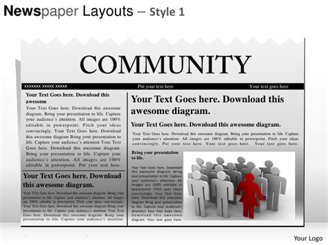 newspaper template powerpoint newspaper layouts style 1 powerpoint presentation templates