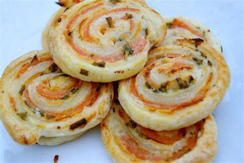 recette de cuisine au four feuilletés apéritifs au saumon la p 39 tite cuisine de pauline