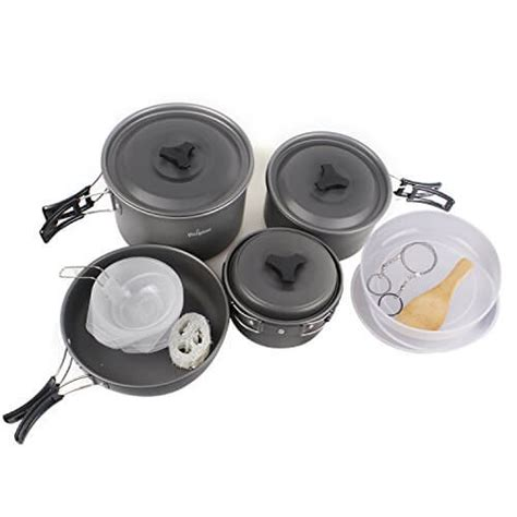 updated cing cookware outdoor cooking equipment mess kit backpacking gear hiking fishing