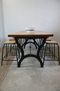 Vintage Industrial Dining Table For Sale At Pamono