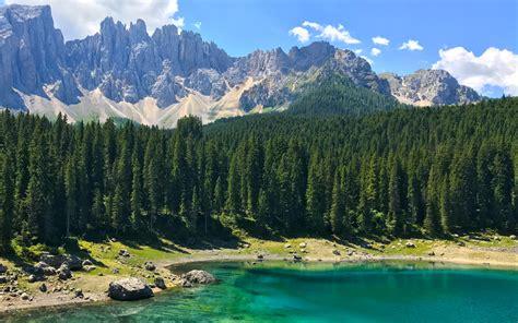 small mountain lake  italy wonderful nature landscape