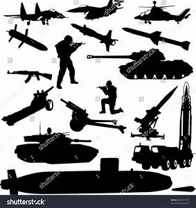 Military Silhouette - Vector - 49231555 : Shutterstock