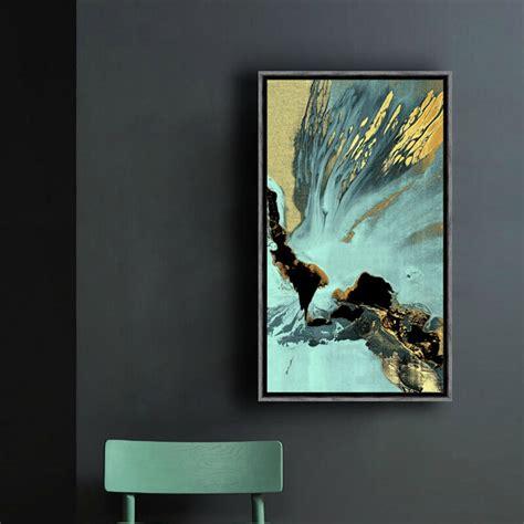abstract painting vertical rectangular canvas wall art