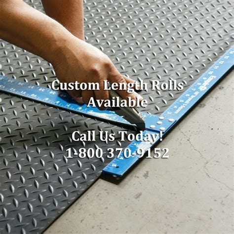 """Diamond Plate"" Roll Rubber Matting"