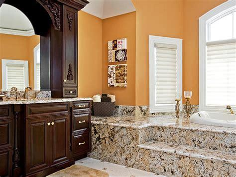 dark wood cabinetry vanity give bathroom depth hgtv
