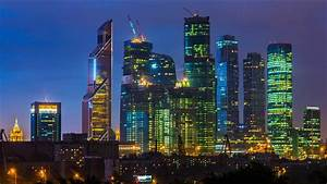 Download Wallpaper 1600x900 Beautiful city night, Moscow ...