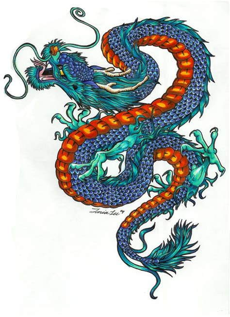 color dragon tattoo designs  pictures artworks