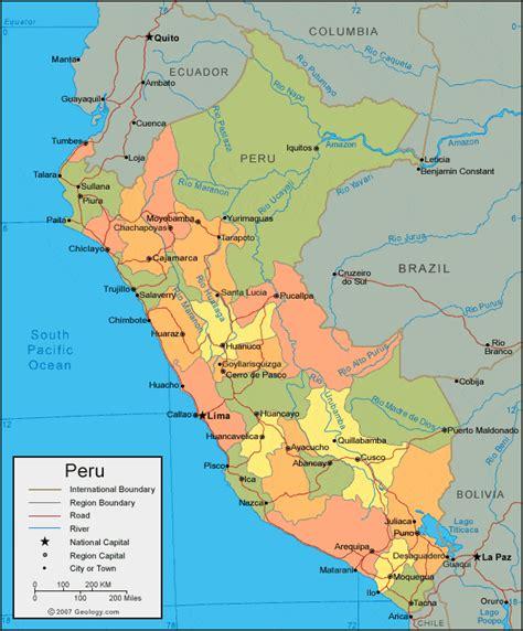 maps map peru
