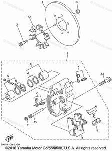 Yamaha Atv 2002 Oem Parts Diagram For Rear Brake Caliper