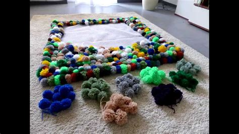 diy bobble carpet part 2 bommel teppich teil 2 pompon borla tapete