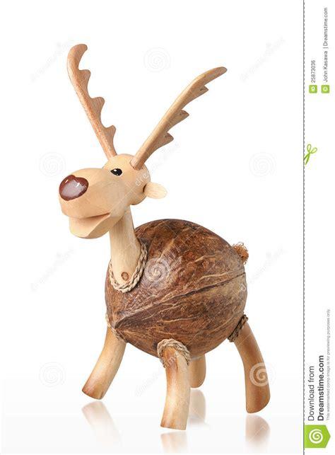 cute handicraft wooden deer piggy bank stock photo image