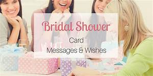 bridal shower card messages wishes With wedding shower messages