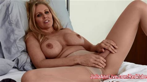 julia ann teases with pantyhose and lingerie redtube