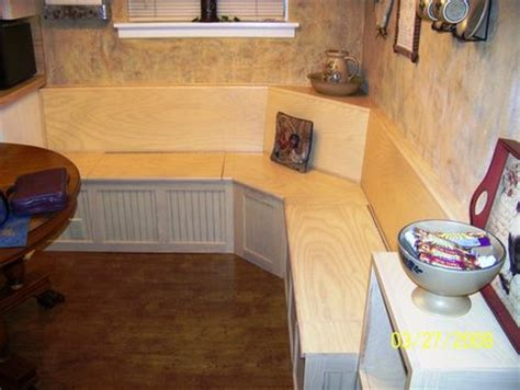 kitchen storage bench plans corner bench by rsmith71 lumberjocks woodworking 6143