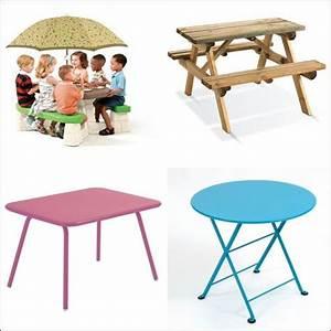 Table De Jardin Enfant : table de jardin enfant tous les prix avec le guide d 39 achat kibodio ~ Teatrodelosmanantiales.com Idées de Décoration