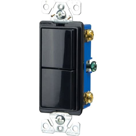 single pole switch eaton commercial grade 15 amp combination decorator 2 single pole switches with back and side