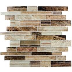 Smart Tiles Peel And Stick Wall Tile by Shop Elida Ceramica Laser Metallic Earth Linear Mosaic