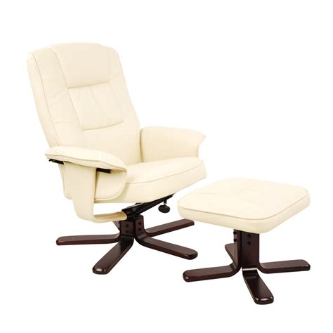 Office Chair Ottoman by Buy Pu Leather Lounge Office Recliner Chair Ottoman Beige